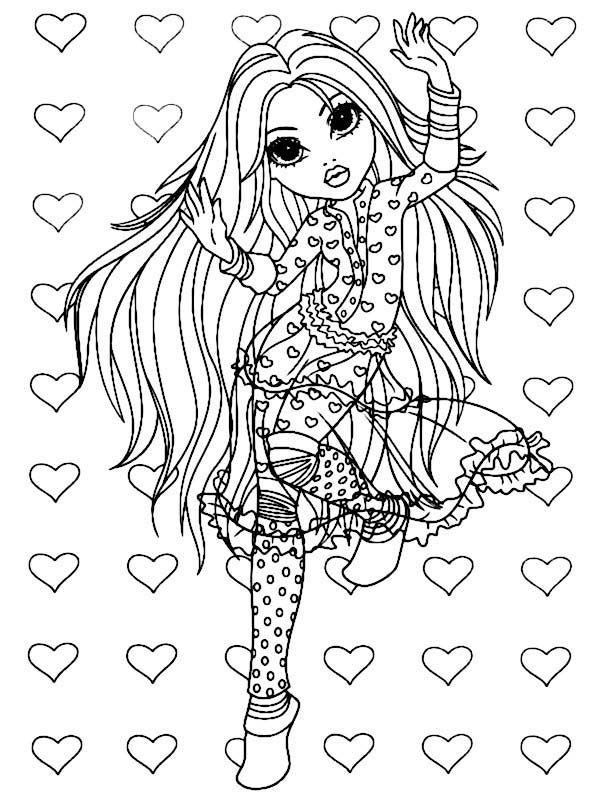 Moxie Girlz, : Avery Dancing Style in Moxie Girlz Coloring Pages