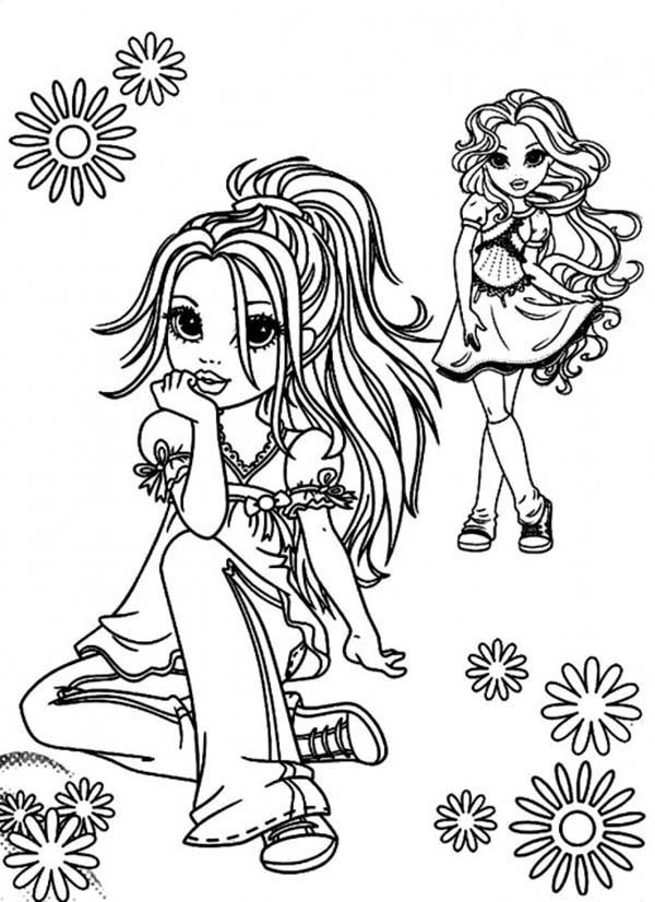 Moxie Girlz, : Avery and Sophina from Moxie Girlz Coloring Pages