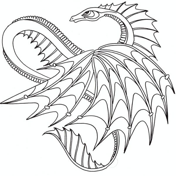 Awesome Dragon From How To Train Your Coloring Pages