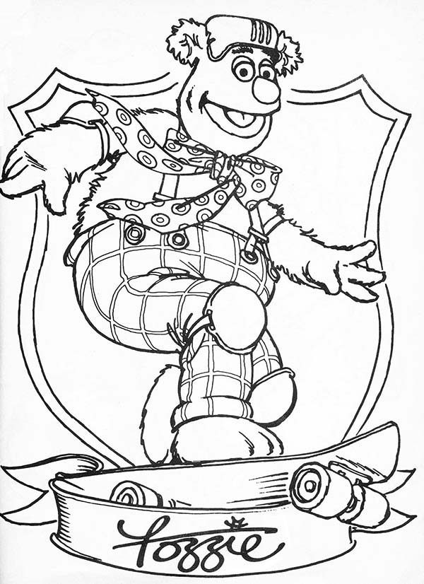 The Muppets, : Awesome Fozzie Bear The Muppets Coloring Pages