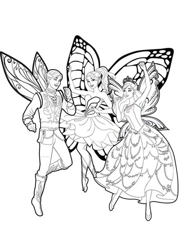 barbie butterfly coloring pages - photo#17