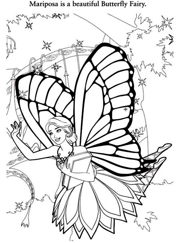 barbie butterfly coloring pages - photo#32