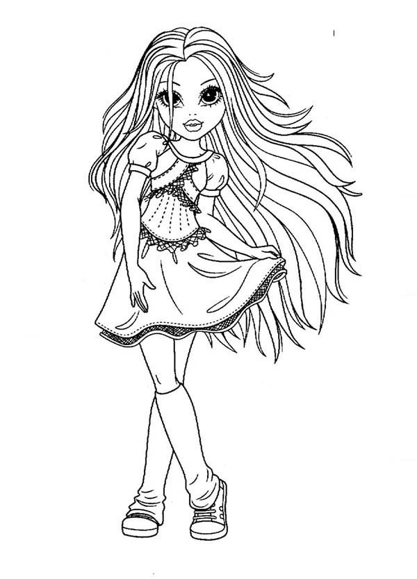 beautiful girl coloring pages - photo#9