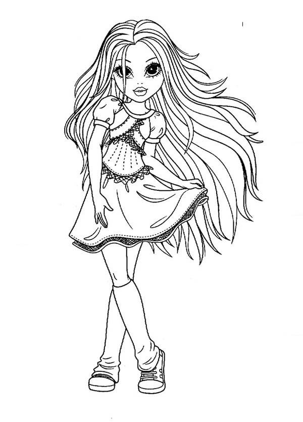 pretty lady coloring pages - photo#20