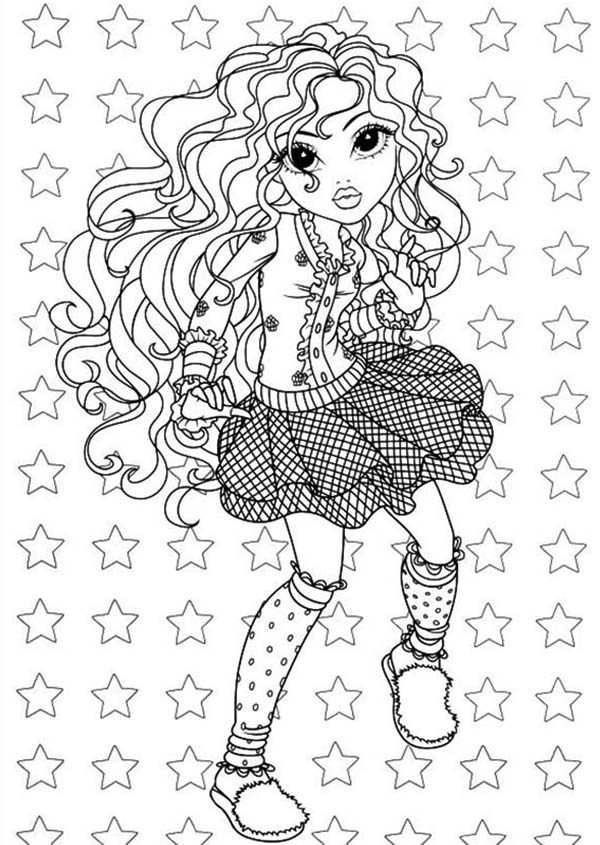 Moxie Girlz, : Bria Wearing Casual Outfit in Moxie Girlz Coloring Pages