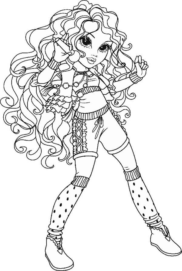 Moxie Girlz, : Bria at the Stage in Moxie Girlz Coloring Pages