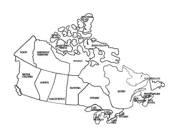 Maps, : Canada Map