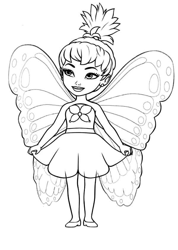 Barbie Mariposa, : Chibi Barbie Mariposa Coloring Pages