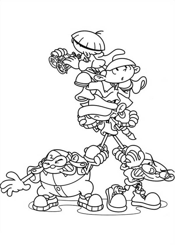 codename kids next door all characters coloring pages - Coloring Books For Kids In Bulk