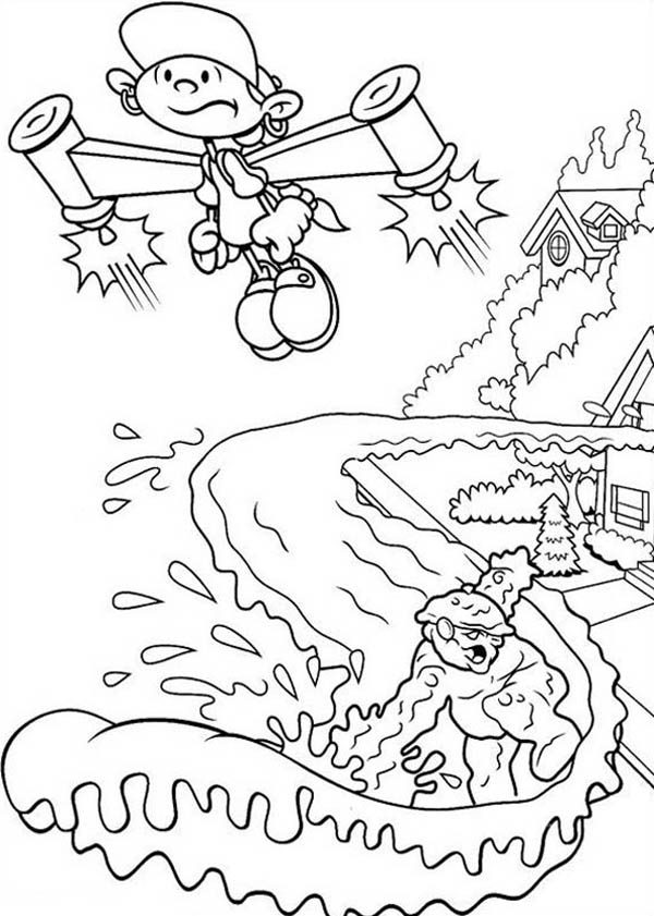 Kids Next Door, : Codename Kids Next Door Coloring Pages Numbuh 5 Escape from the Pursuit of Enemy