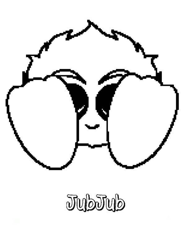 Neopets, : Cute JubJub Neopets Coloring Pages
