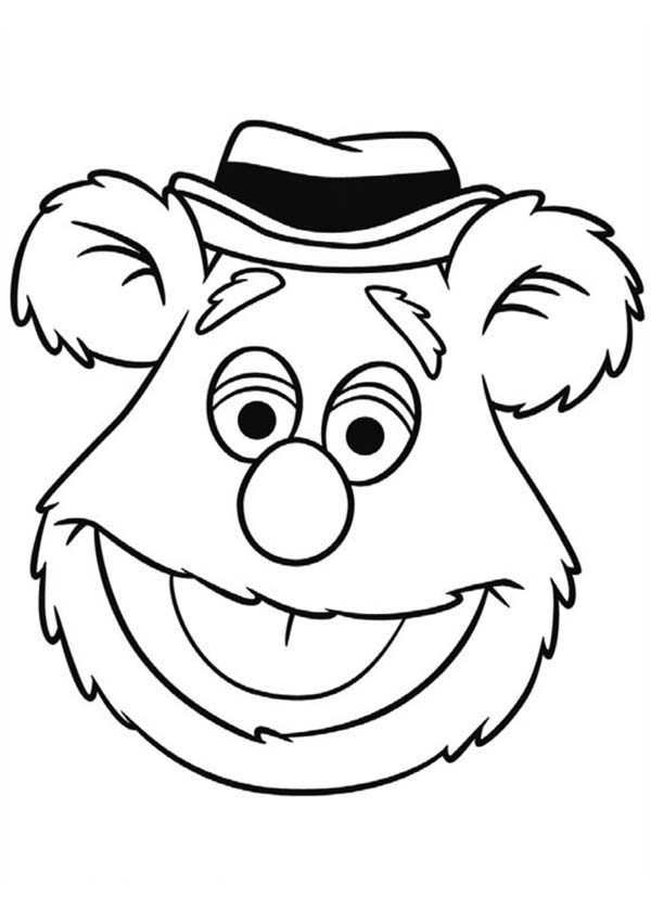The Muppets, : Drawing Head of Fozzie Bear The Muppets Coloring Pages