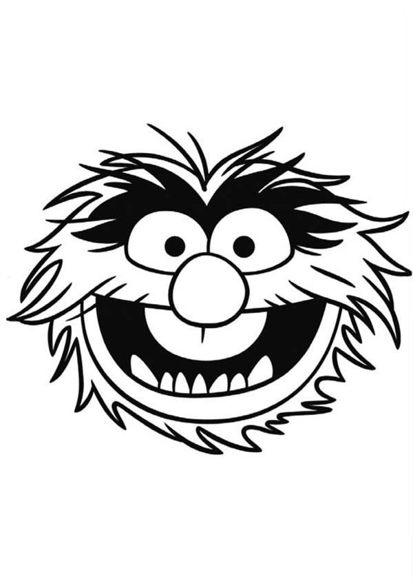 The Muppets, : Face of Sgt Floyd Pepper The Muppets Coloring Pages