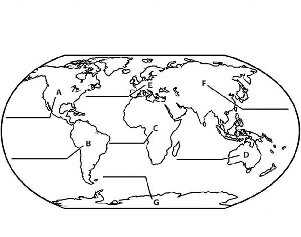 Maps, : Globe Maps Coloring Pages