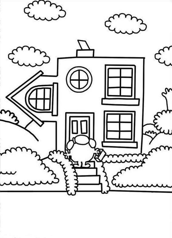 Mr Men and Little Miss, : Going Home in Mr Men and Little Miss Coloring Pages