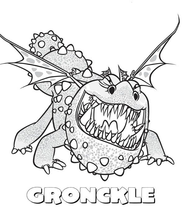 how to train your dragon gronckle sharp teeth from how to train your dragon coloring