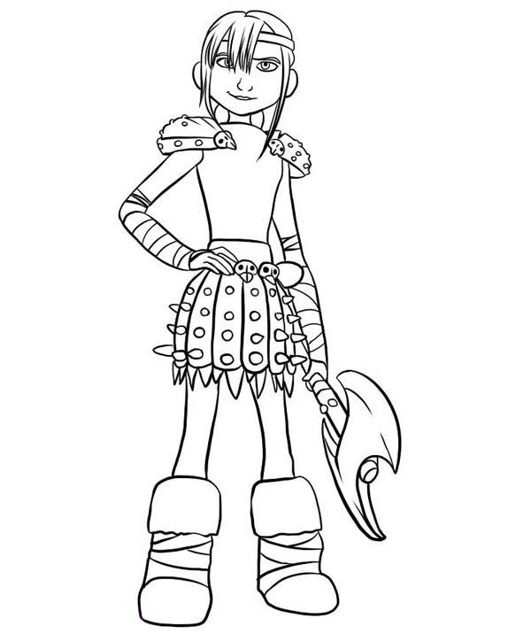 Hiccup Girlfriend Astrid How To Train Your Dragon Coloring