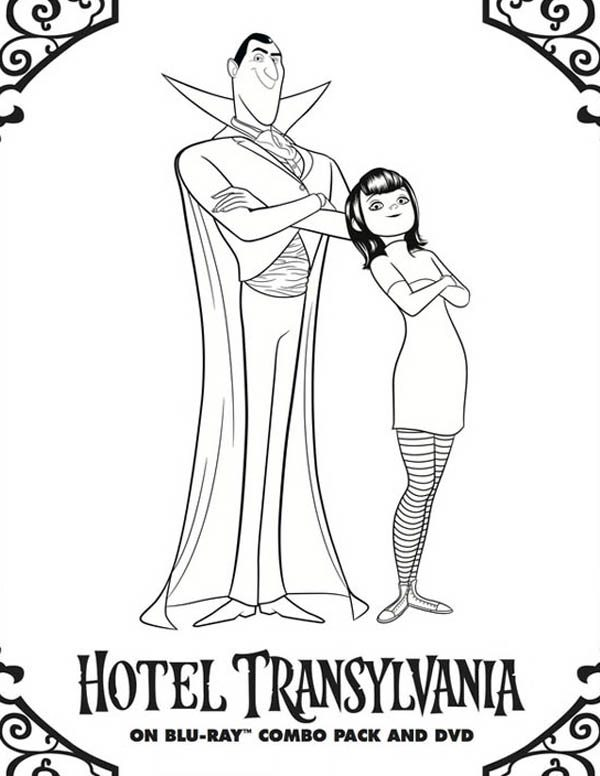 Hotel Transylvania Owner Count Dracula And Mavis Coloring Pages Dracula Coloring Pages