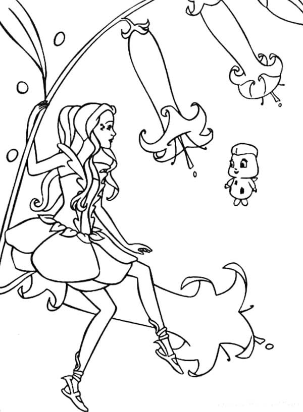 How To Draw Barbie Mariposa Coloring Pages