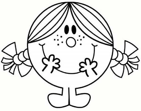 Mr Men and Little Miss, : How to Draw Little Miss Sunshine in Mr Men and Little Miss Coloring Pages