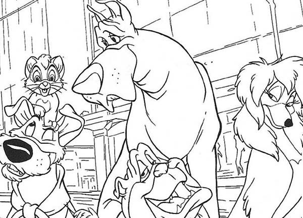 Oliver and Company, : How to Draw Oliver and Company Coloring Pages