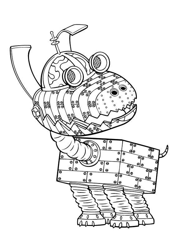 Jimmy Neutron Robotic Dog Goddard Coloring Pages