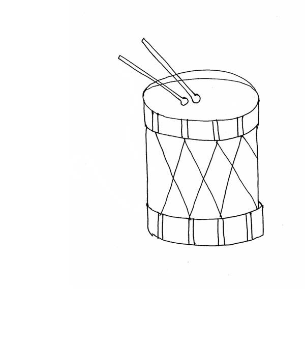 Musical Instruments, : Kids Drawing Musical Instruments Coloring Pages