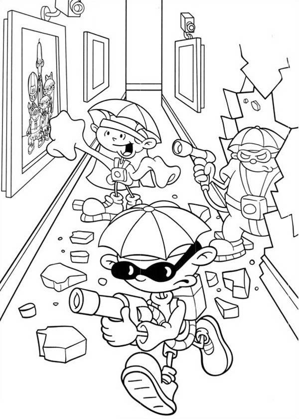Kids Next Door, : Kids Next Door Coloring Pages Entering Enemies Office