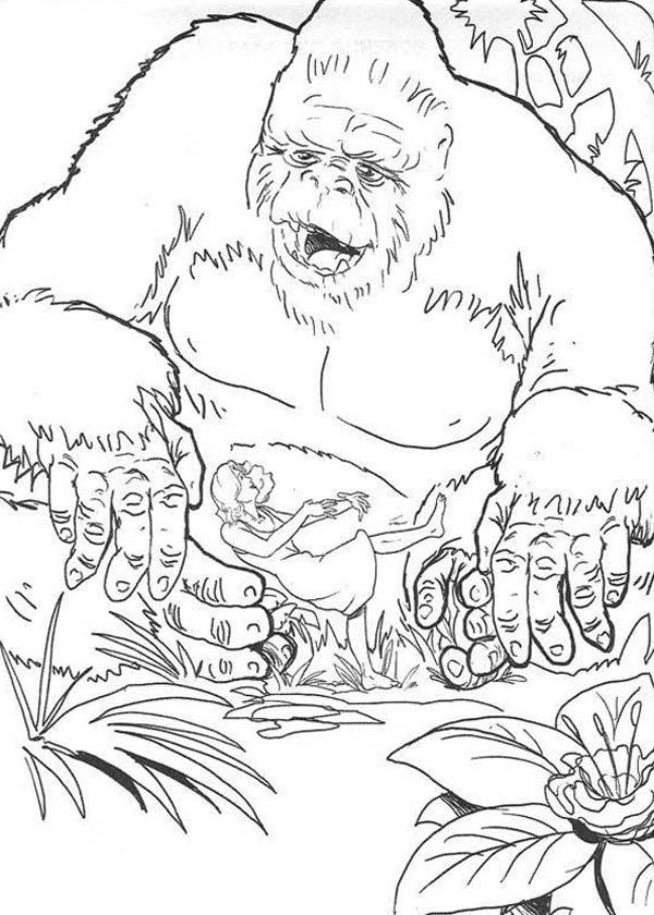 King Kong, : King Kong Found Ann Darrow Coloring Pages
