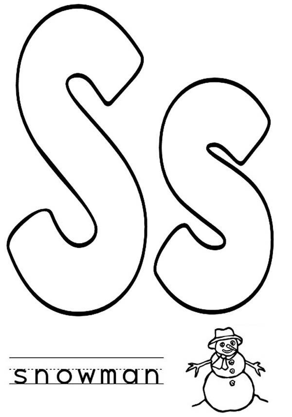 Letter S, : Learn Alphabet Letter S Coloring Page for Preschool kids