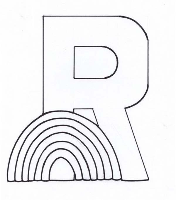 Letter R, : Learn Letter R Coloring Page