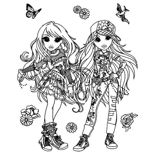 Lexa And Avery Taking Picture Together In Moxie Girlz Coloring Pages