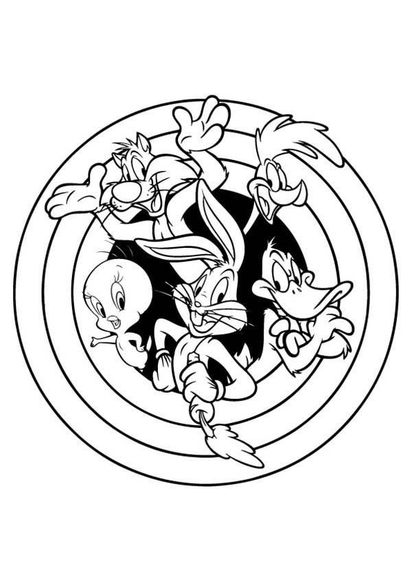 Looney Tunes Coloring Pages Stunning Looney Tunes The Series Coloring Pages  Bulk Color Review