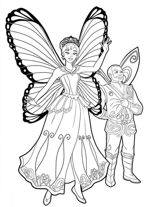 Barbie Mariposa Lord Gastrous And Queen Marabella From Coloring Pages