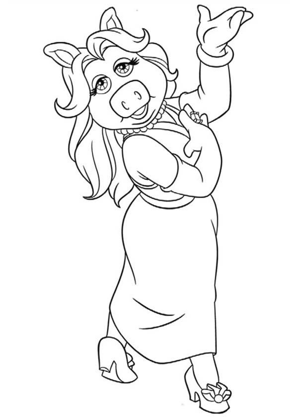 The Muppets, : Lovely Miss Piggy from The Muppets Coloring Pages