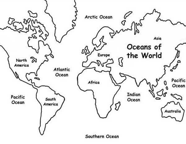 Maps, : Maps of Southern Ocean Coloring Pages