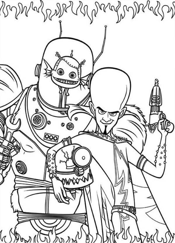 Megamind, : Megamind Coloring Pages for Kids
