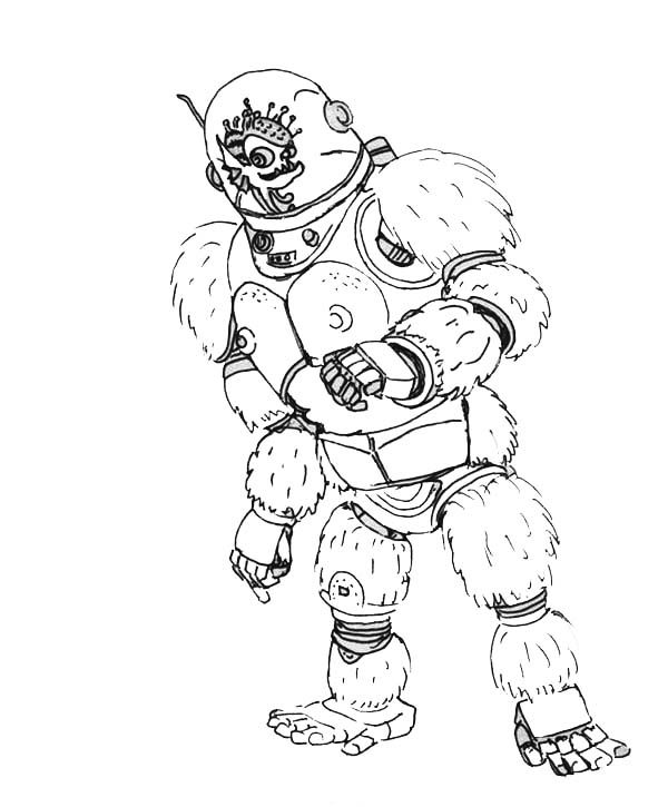 Megamind, : Megamind Friend  Minion Dress Like a Gorilla Coloring Pages