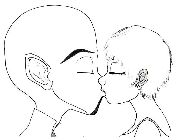 Megamind, : Megamind Kissed Roxanne Coloring Pages