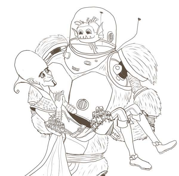 Megamind Saved by Minion Coloring Pages | Bulk Color