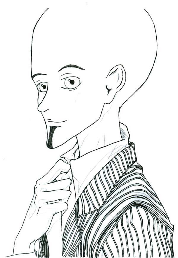 Megamind, : Megamind in Suit Coloring Pages