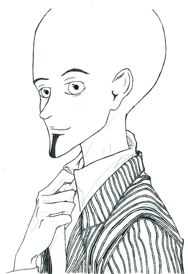 Sweat suit coloring page coloring coloring pages for Megamind coloring pages