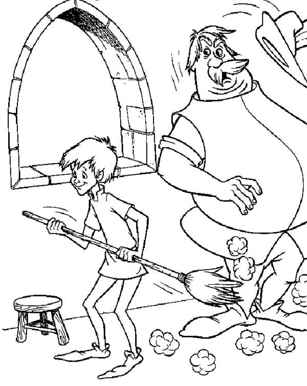 Merlin the Wizard, : Merlin the Wizard Coloring Pages for Kids