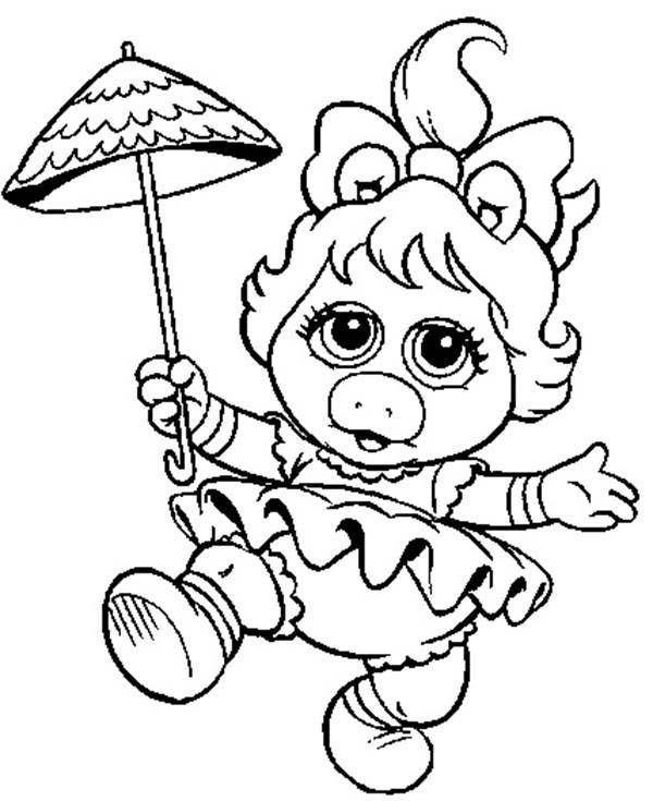 muppet babies miss piggy from muppet babies coloring pages