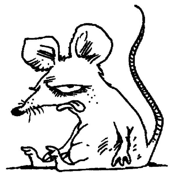 Mouse and Rat, : Mouse and Rat Feeling Hate Coloring Pages