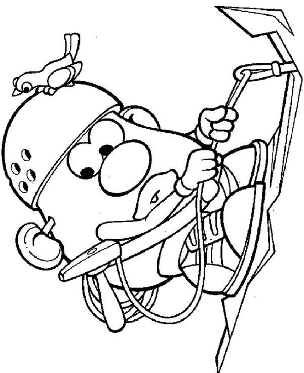 Mr. Potato Head, : Mr. Potato Head Climbs Mountain Coloring Pages