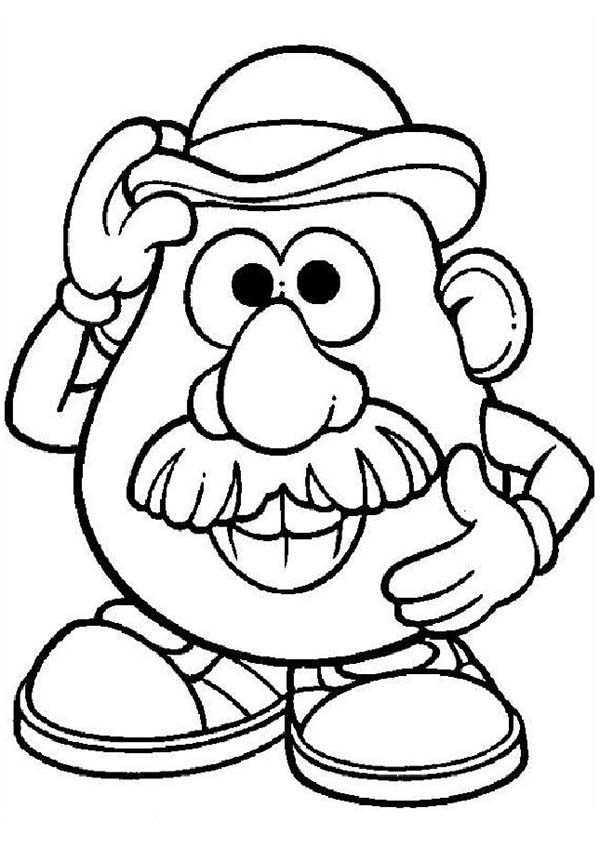 Mr Potato Head Coloring Pages for Kids Bulk Color
