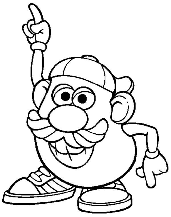 Mr. Potato Head, : Mr. Potato Head Dancing Coloring Pages