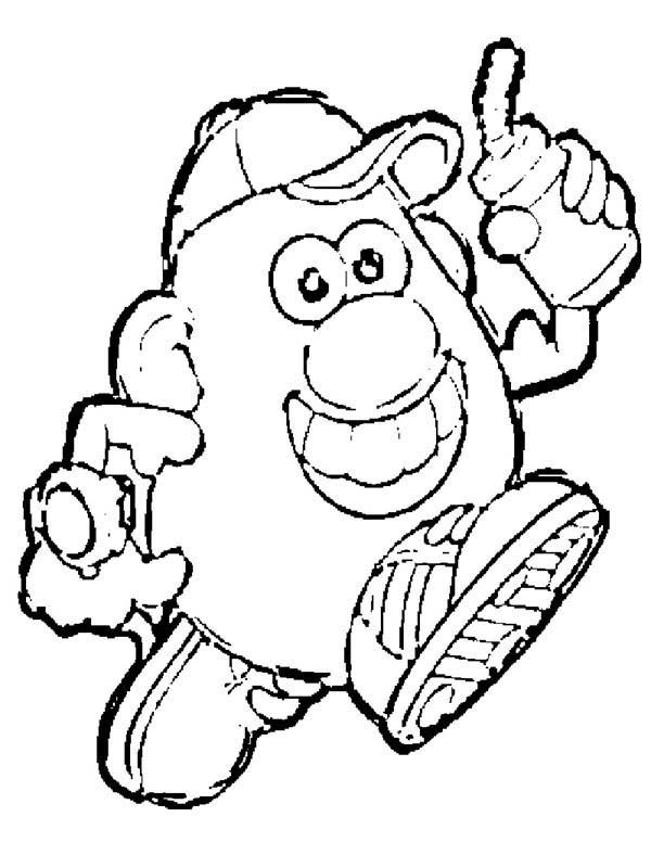 Mr. Potato Head, : Mr. Potato Head Outline Coloring Pages
