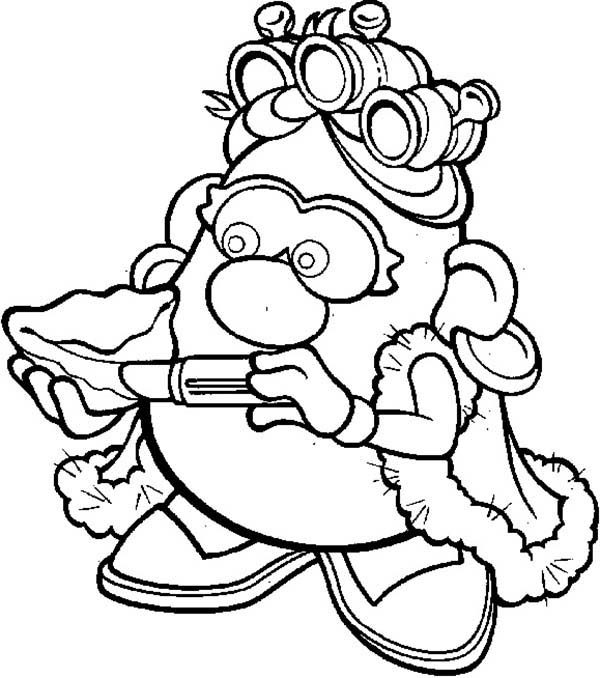 Mrs Potato Head Coloring Pages #8